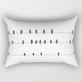 Birds on the Wires Rectangular Pillow