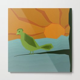 Geo Bird Metal Print