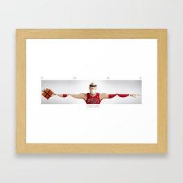 Merry Dunking Xmas Framed Art Print