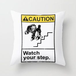 Watch Your Robotic Steps Throw Pillow
