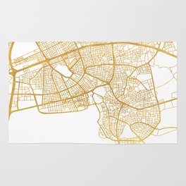 ANTALYA TURKEY CITY STREET MAP ART Rug