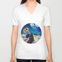 christmas tree V-neck T-shirts featuring Christmas Tree by Cs025