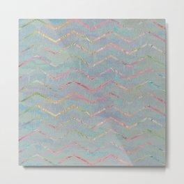 Chevron Rainbows Metal Print