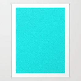 Aqua Cyan Saturated Pixel Dust Art Print