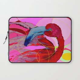 Contemporary Abstracted Tropical Flamingo Art Laptop Sleeve