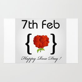 Happy Rose day february 7th- valentine month gifts for lovers Rug