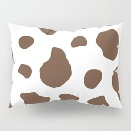 Brown Cow Print Background Pillow Sham