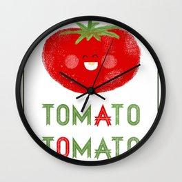 Tomato-Tomato Wall Clock