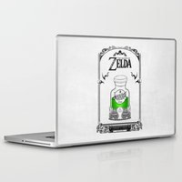 the legend of zelda Laptop & iPad Skins featuring Zelda legend - Green potion  by Art & Be