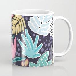 Colourful Tropical Collage Pattern Coffee Mug
