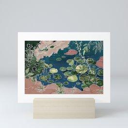 Green pond Mini Art Print