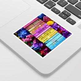 Rainbow Book Spines Sticker