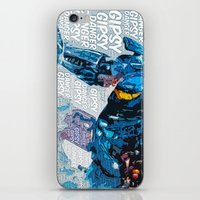 pacific rim iPhone & iPod Skins featuring Pacific Rim: Gipsy Danger by Bolin Cradley Art