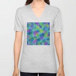 Hydrangeas Abstract Unisex V-Neck