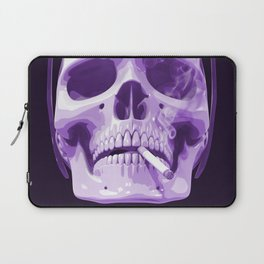 Skull Smoking Cigarette Purple Laptop Sleeve