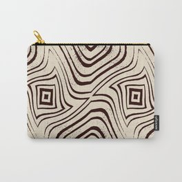 Zebra Grunge 3 Carry-All Pouch