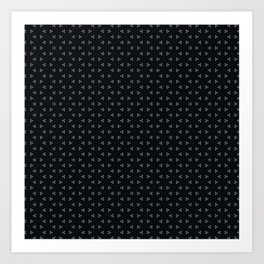 Black small frozen Art Print