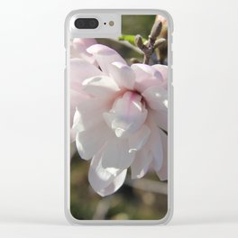 Star Magnolia Clear iPhone Case