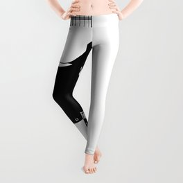 Electric Guitar Drawing Leggings