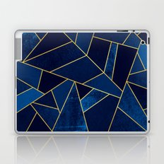 Blue stone with yellow lines Laptop & iPad Skin