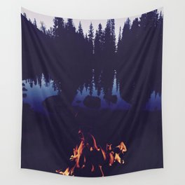 Campfire at Dusk Wall Tapestry