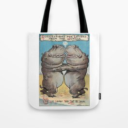 We are NEVER Too Fat to Love Tote Bag