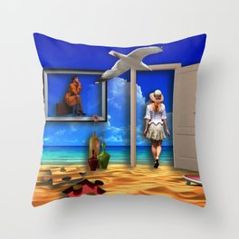 Holiday's dream Throw Pillow