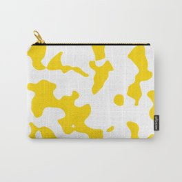 Large Spots - White and Gold Yellow Carry-All Pouch