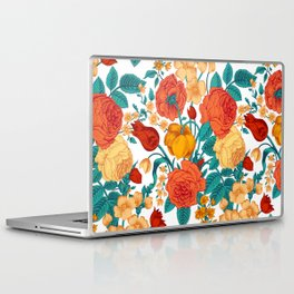 Vintage flower garden Laptop & iPad Skin