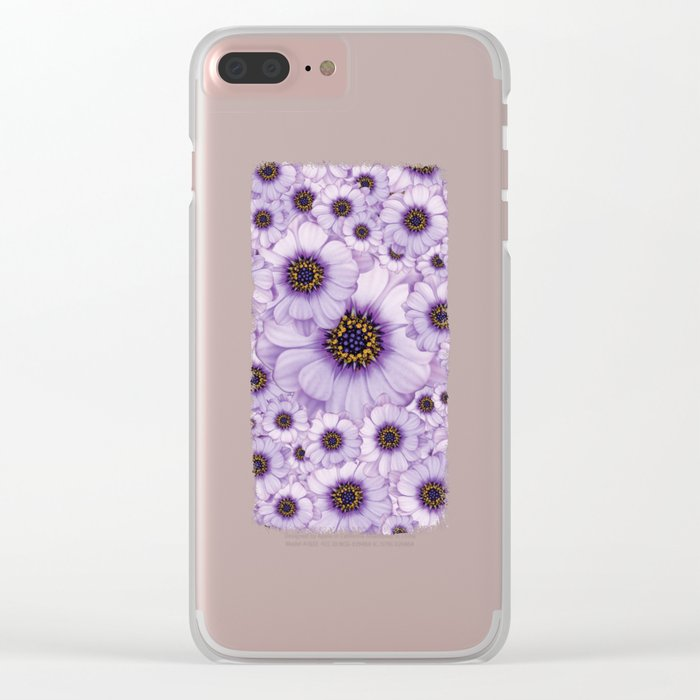 Daisy Pattern Clear iPhone Case