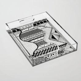 Wavy Geometric Patterns Acrylic Tray