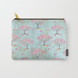 Spring Flowers - Cherry Blossom  Tree Pattern Carry-All Pouch