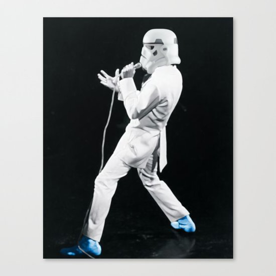 Blue Suede Trooper _ elvis and star wars Canvas Print