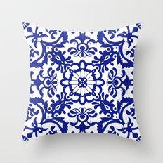 Portuguese tile Throw Pillow