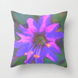 Macro Purple Flower Impression Throw Pillow