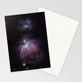 The Orion Nebula and The Running Man Stationery Cards
