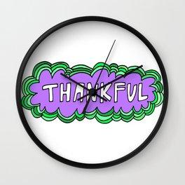 gratitudez Wall Clock