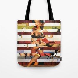 Glitch Pin-Up Redux: Britney Tote Bag