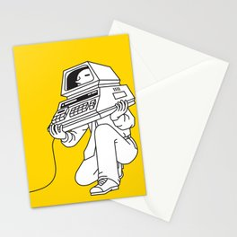 Computer head Stationery Cards