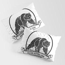 Glacier National Park Emblem Pillow Sham