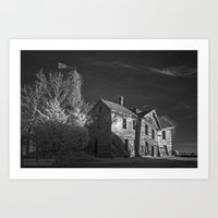 The Crooked House in Sepia Art Print