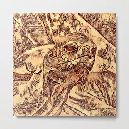 Animal ArtStudio - amazing turtle Metal Print