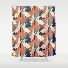 Bunnies and Trees 1 Shower Curtain