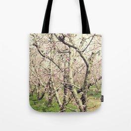 Peach Trees Tote Bag