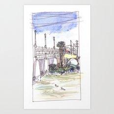 Ducks in the River Art Print