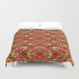Glass Poinsettias Duvet Cover