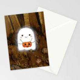 Little ghost and pumpkin Stationery Cards