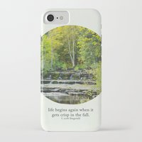 fitzgerald iPhone & iPod Cases featuring fall leaves + f scott fitzgerald by lissalaine