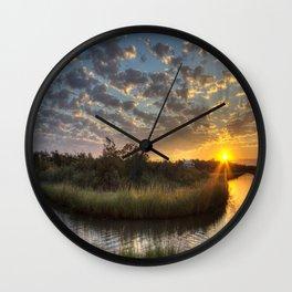 Bend in the Bayou Sunrise Wall Clock