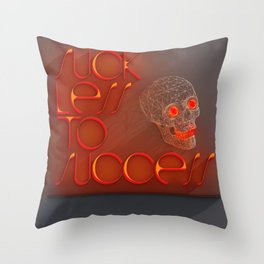 Suck less to Succes Throw Pillow